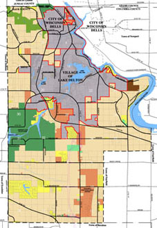 Town of Delton Zoning Map - Zoning Administration