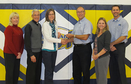 GEC Presents Donation Check to St. Mary School