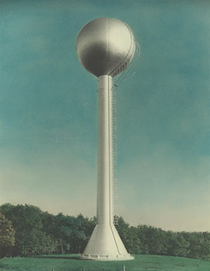 Village of Coloma Water Tower 1940
