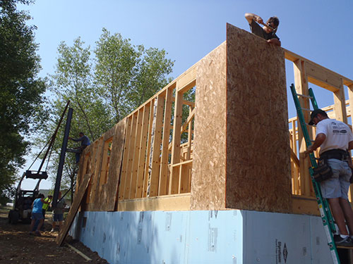 GEC Employees Help Build a House for Habitat for Humanity