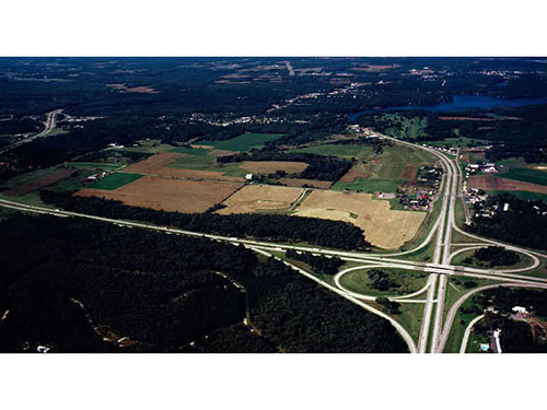 Lake Delton I90/94 & Hwy 12 Interchange in 1985