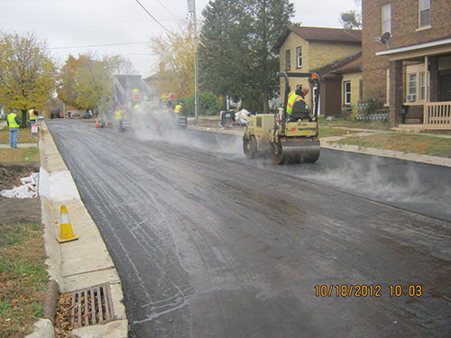 2012 Portage Street & Utility Rehabilitation - Final Paving