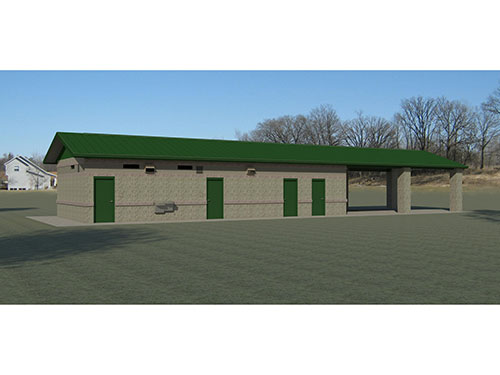 Valley View Park Shelter 3D Rendering
