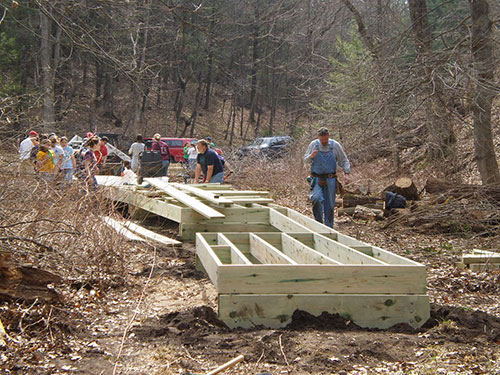 Camp Wawbeek Boardwalk Phase I Construction