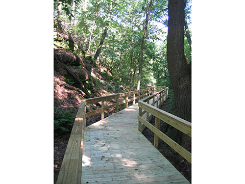 Camp Wawbeek Boardwalk Phase I Completed