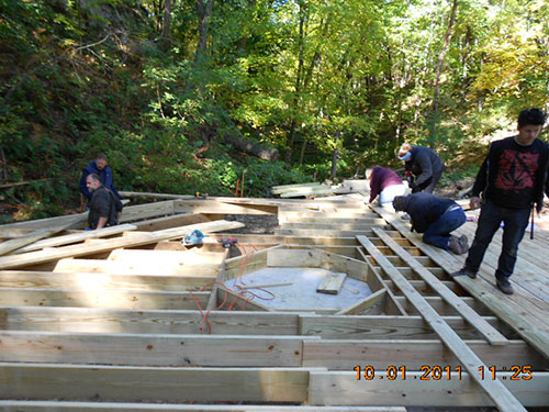 Camp Wawbeek Boardwalk Phase II Construction