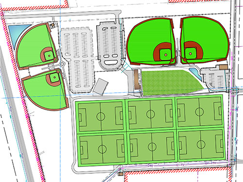 Woodside Ranch Sports Complex Site Map