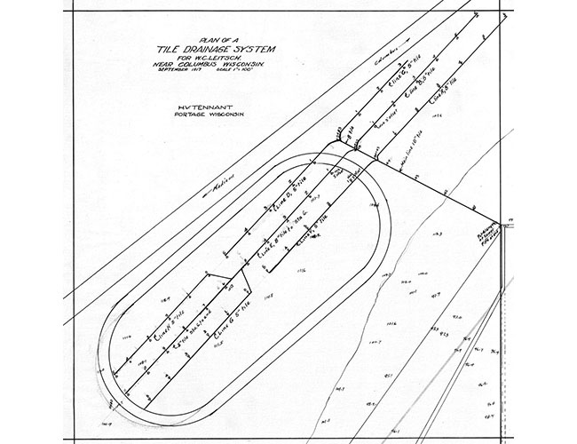 1917 Farm Drain Drawings