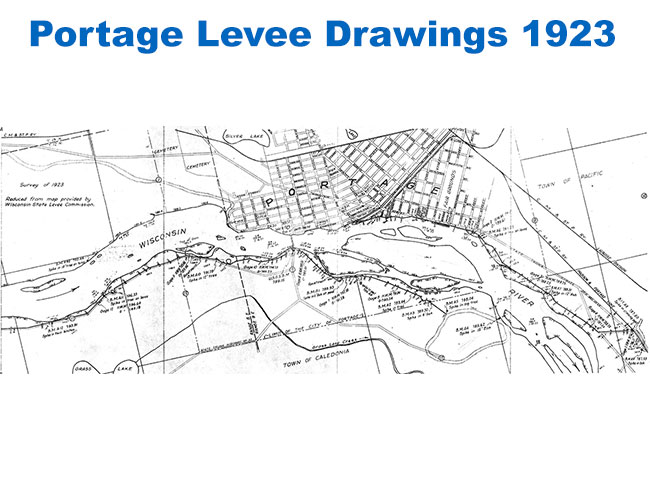 Portage Levee Drawing 1923