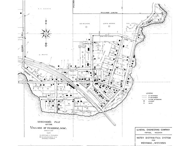 Village of Merrimac Assessor's Plat 1932