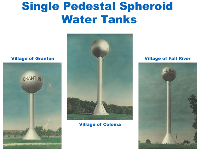 Single Pedestal Spheroid Water Tanks