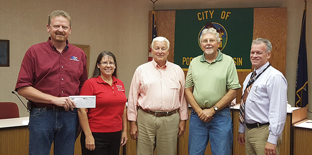 GEC Donates to the Portage High School Building Trades Program