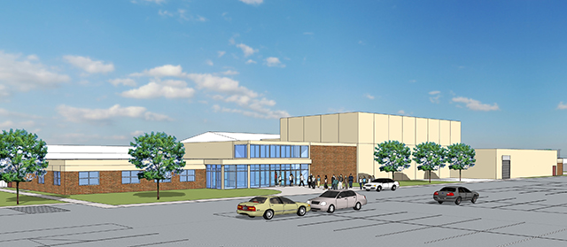 3D Rendering of the Pardeeville High School Addition Performing Arts Center