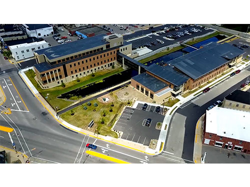 Columbia County Complex Aerial of Completed Project
