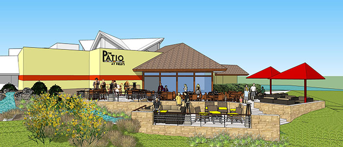 Field's at the Wilderness New Patio 3D Rendering