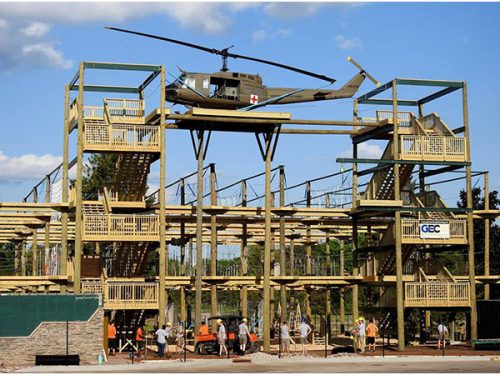 D-Day Aerial Adventure Course Construction