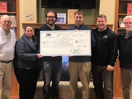 GEC donates to the Portage Library