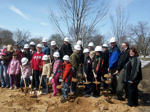Portage Splash Pad Groundbreaking Ceremiony