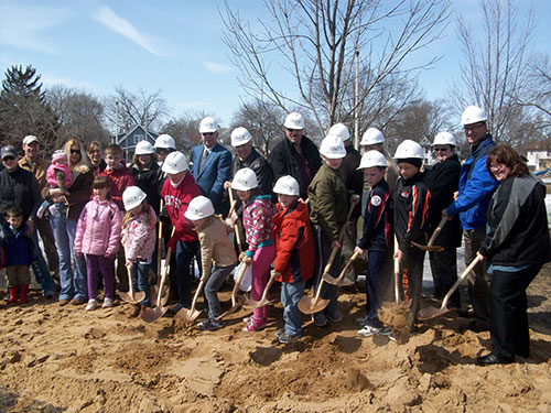 2013 Portage Splash Pad Groundbreaking