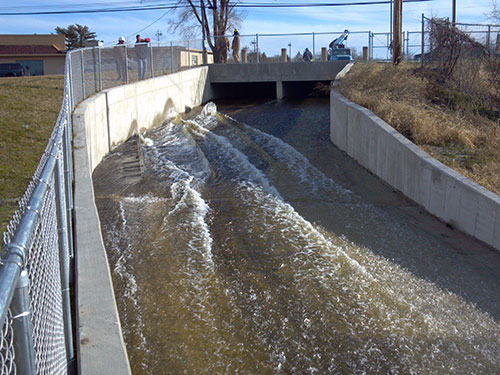 Park Lake Overflow Spillway Completed