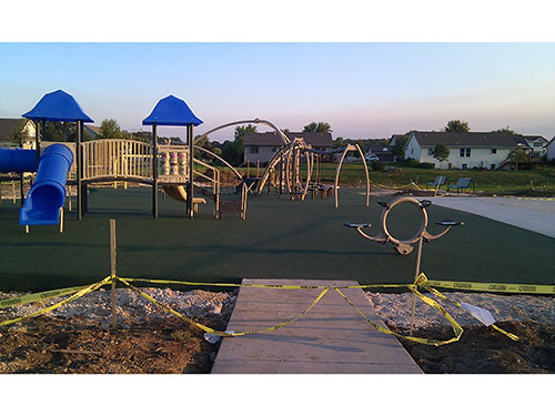 Valley View Park Playground Construction