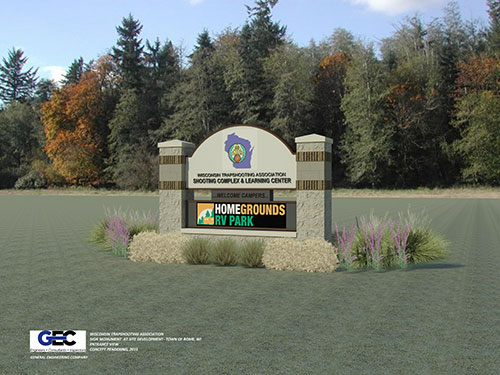 3D Rendering of the Proposed Signage for the WTA Shooting Complex