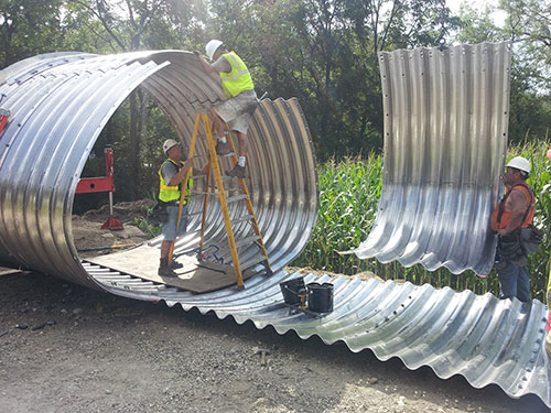 Aluminum Culvert Being Fabricated