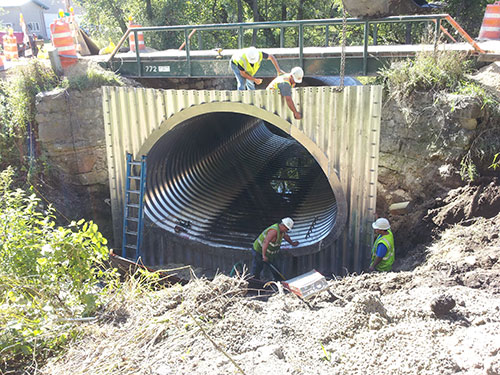 Culvert End Wall Installation
