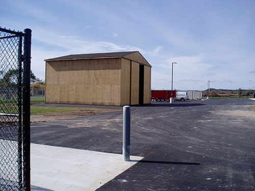 Mauston DPW Building - Completed Storage Building