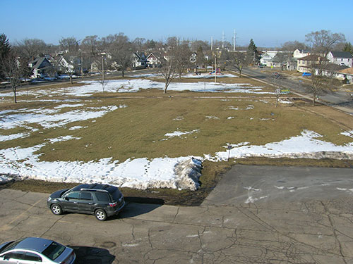 Portage Splash Pad - Site Before Construction